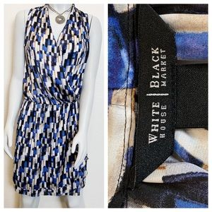 WHBM | Sleeveless Draped Spring Summer Dress